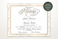 Modern Wedding Certificate Printable Certificate Of regarding Awesome Free Wedding Gift Certificate Template Word 7 Ideas