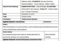 Mom Format Template 4 Types Download  Organization And regarding Professional Learning Community Agenda Template
