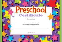 Most Free Printable Preschool Graduation Certificate intended for Certificate For Pre K Graduation Template