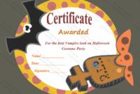 Most Frightening Halloween Award Certificate Template inside Halloween Certificate Template