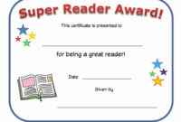 Most Improved Certificate Template Free Luxury Reading inside Most Improved Student Certificate