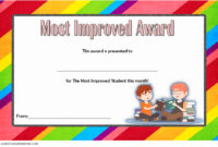 Most Improved Student Certificate 10 Template Designs Free pertaining to Star Reader Certificate Template Free