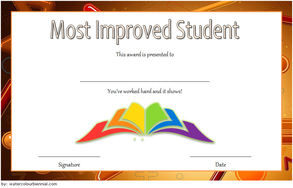 Most Improved Student Certificate 10 Template Designs Free with Academic Award Certificate Template