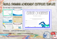 Most Improved Student Certificate Printable  10 Best Ideas in Swimming Certificate Template
