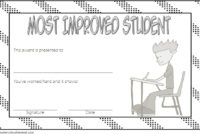 Most Improved Student Certificate Printable  10 Best Ideas inside Best Student Of The Week Certificate Templates