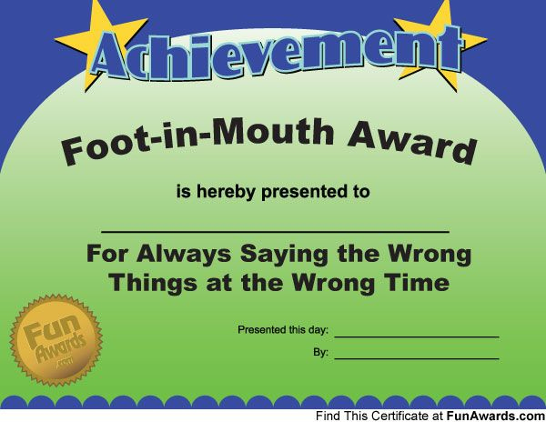 Most Likely To Awards  Funny Office Awards Funny Awards within Quality Most Likely To Certificate Template Free