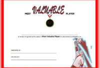 Most Valuable Player Certificate Template For Volleyball for Volleyball Award Certificate Template Free