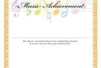 Music Award Certificate A Printout For Student inside Awesome Piano Certificate Template Free Printable