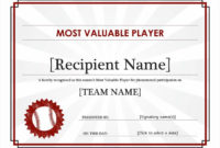 Mvp Award  Mvp Award Template  Mvp Awards intended for Amazing Rugby League Certificate Templates