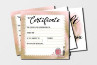 Nail Artist Gift Certificate Template Printable Gift  Etsy for Printable Nail Salon Gift Certificate