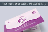 Nail Master  Free Gift Certificate Psd Template intended for Printable Free Printable Manicure Gift Certificate Template