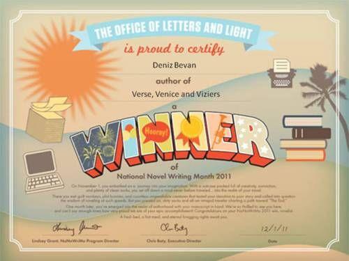 Nano 2011  National Novel Writing Month Novel Writing inside Quality Baby Shower Winner Certificate Template 7 Ideas