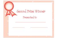 Nd Winner Certificate Template Free Download Dtemplates in Powerpoint Award Certificate Template