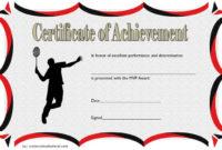 Need A Badminton Achievement Certificate Free Printable in Badminton Achievement Certificates