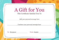 Need A Lastminute Gift Use This Colorful Gift inside Best Company Gift Certificate Template