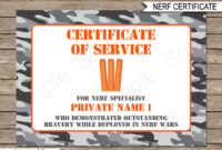 Nerf Wars Certificate Template  Nerf Birthday Party Favors within Amazing Zoo Gift Certificate Templates Free Download