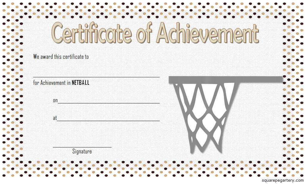 Netball Achievement Certificate Editable Templates for Quality Download 10 Basketball Mvp Certificate Editable Templates