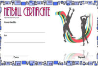 Netball Certificate Template Free 4 In 2020  Certificate with Netball Certificate Templates