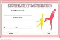 Netball Participation Certificate Templates 7 pertaining to Printable Running Certificate Templates 10 Fun Sports Designs