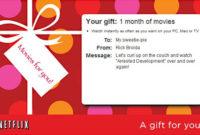 Netflix Gift Certificate Template  5 Free Jpeg Documents throughout Movie Gift Certificate Template