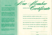 New Member Instruction Certificate  Parchment  Bh throughout Free Membership Certificate Template Free 20 New Designs