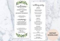 New Wedding Ceremony Programs Template Favors 21 Ideas for Wedding Reception Agenda Template
