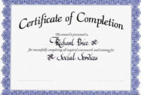 Newtemplatecertificateofcompletion intended for Quality Certificate Of Completion Templates Editable