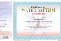 Nice Baptism Certificate Pictures Premium Free Printable inside Christian Baptism Certificate Template