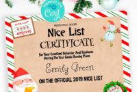 Nice List Certificate Template Editable Santa Certificate with Free Santas Nice List Certificate Template Free