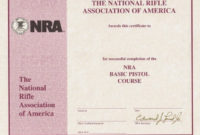 Nra Certificate Template  Carlynstudio inside Years Of Service Certificate Template Free 11 Ideas