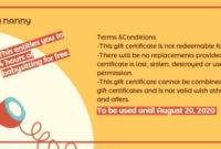 Online Babysitting Gift Certificate Template  Fotor with Free Babysitting Gift Certificate Template