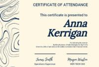 Online Certificate Of Attendance Certificate Template in Best Dressed Certificate Templates