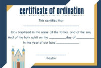 Ordination Certificate Template 14 Unique And Free With intended for Awesome Free Ordination Certificate Template