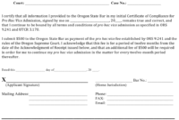 Oregon Renewal Form For Certificate Of Compliance For Pro regarding Free Certificate Of Compliance Template 10 Docs Free