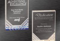Outstanding Achievement Award  Jewel Mirage Acrylic within Free Outstanding Achievement Certificate