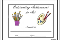 Outstanding Achievement Awards For Every Subject with regard to Printable Drawing Competition Certificate Templates