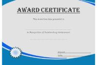 Outstanding Achievement Certificate  10 Template Ideas for Long Service Award Certificate Templates