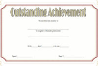 Outstanding Achievement Certificate  10 Template Ideas with Free Outstanding Student Leadership Certificate Template Free