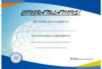 Outstanding Achievement Certificate Template Free throughout Tennis Achievement Certificate Templates