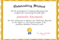 Outstanding Student Award Certificate Templates  Deola throughout Quality Academic Award Certificate Template