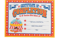 """""""Over The Top"""" Certificates Of Completion in Quality Printable Vbs Certificates Free"""