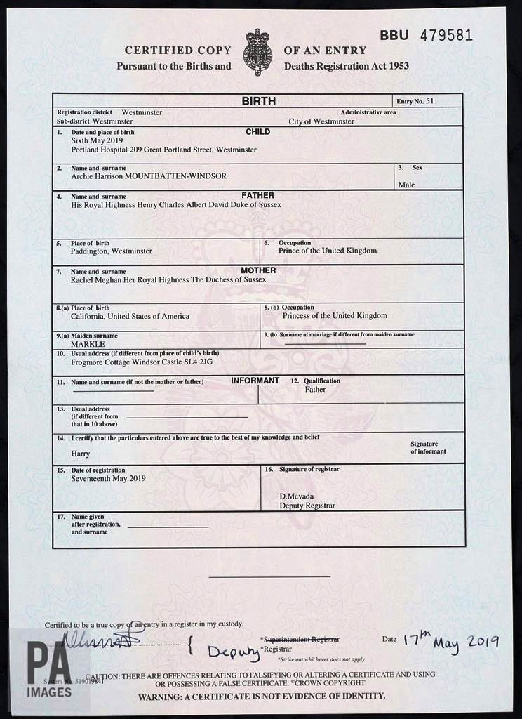 Pa Media On  Birth Certificate Archie with regard to Baby Death Certificate Template