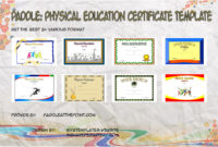 Paddle Certificate throughout Physical Education Certificate 8 Template Designs