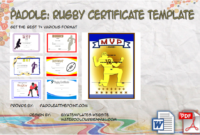 Participation Certificate Templates  10 Best Ideas with regard to Rugby Certificate Template