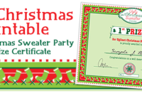 Party Simplicity Free Christmas Printable Ugly Christmas for Printable Baby Shower Winner Certificates