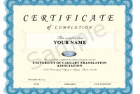 Pdfcertificateofcompletiontemplate for Quality Certification Of Completion Template