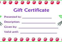 Pedicure Gift Certificate Template  Carlynstudio with Free Printable Manicure Gift Certificate Template