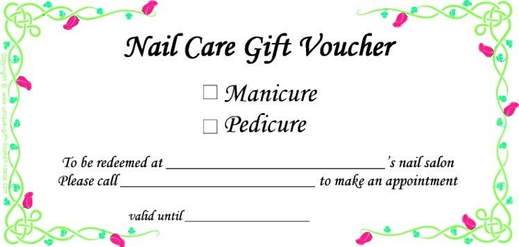 Pedicure Gift Certificate Template  Carlynstudio with regard to Amazing Nail Salon Gift Certificate Template