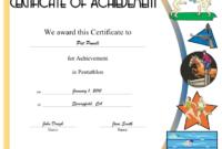 Pentathlon Printable Certificate for Free Swimming Achievement Certificate Free Printable