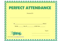 Perfect Attendance Certificate Printable Free Download for Best Perfect Attendance Certificate Template Free